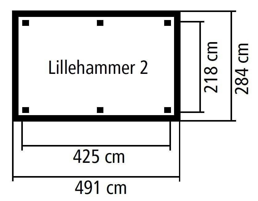 Karibu Holzpavillon Lillehammer 2 kdi 491x284cm SPARSET mit Schindeln Bild 2