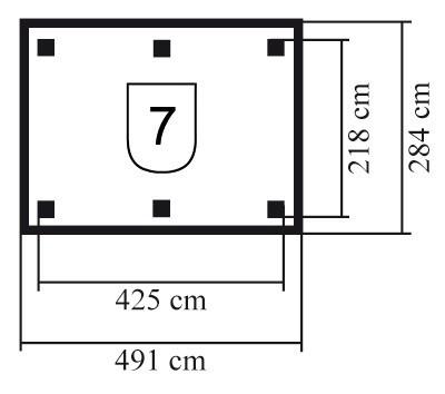 Karibu Holzpavillon Lillehammer 2 kdi 491x284cm Bild 2
