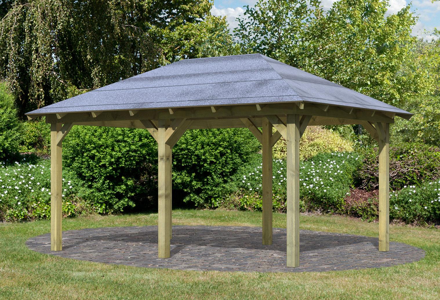 Karibu Holzpavillon Perida kdi 485x345cm Bild 1