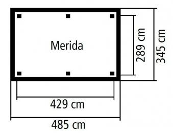 Karibu Holzpavillon Perida kdi 485x354cm SPARSET mit Schindeln Bild 3