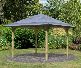 Karibu Holzpavillon Sevilla kdi 340x340cm Bild 1