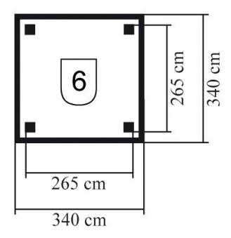 Karibu Holzpavillon Sevilla kdi 340x340cm Bild 2
