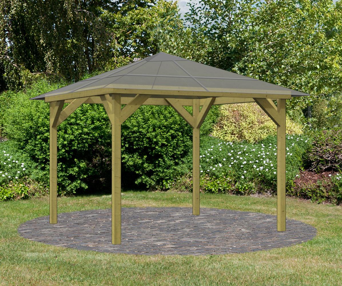karibu massivholz pavillon 1 kdi 9x9cm mit. Black Bedroom Furniture Sets. Home Design Ideas
