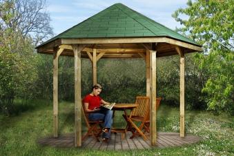 Weka Gartenlaube 656 Gr.1 Pavillon kdi 326x376cm Bild 1