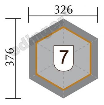 Weka Gartenlaube 656 Gr.1 Pavillon kdi 326x376cm Bild 2