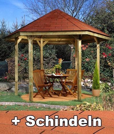 Weka Gartenlaube 656 Gr.2  kdi 399x461cm mit Schindeln Bild 1