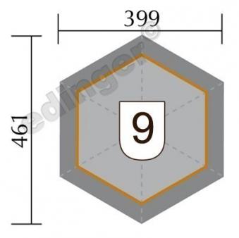 Weka Gartenlaube 656 Gr.2  kdi 399x461cm mit Schindeln Bild 2