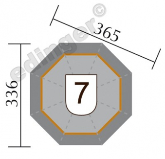 Weka Gartenlaube / Pavillon 234B natur 336x365cm Bild 2
