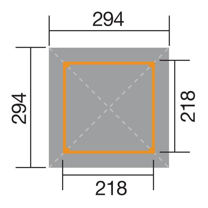 Weka Holzpavillon Gartenoase 651 Gr.1 kdi 294x294cm Bild 2