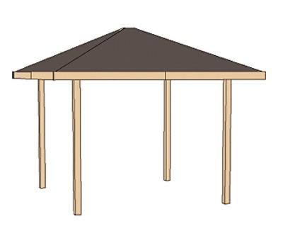 Weka Holzpavillon Gartenoase 651 Gr.2 kdi 333x333cm Bild 3