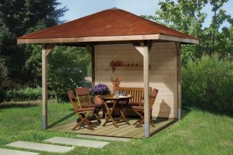 Weka Holzpavillon Gartenoase 651 Gr.2 kdi 333x333cm Bild 1
