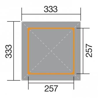 Weka Holzpavillon Gartenoase 651 Gr.2 kdi 333x333cm Bild 2