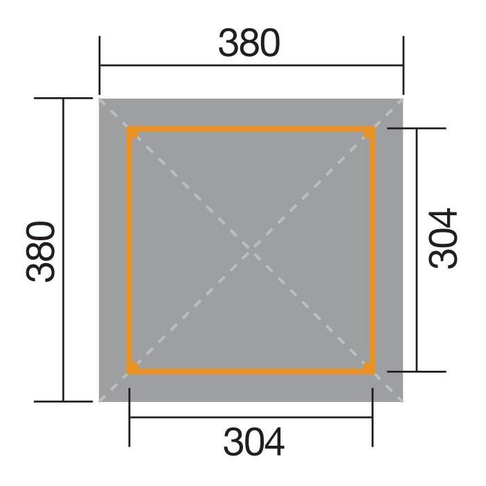 Weka Holzpavillon Gartenoase 651 Gr.3 kdi 380x380 mit Dachschindeln Bild 2