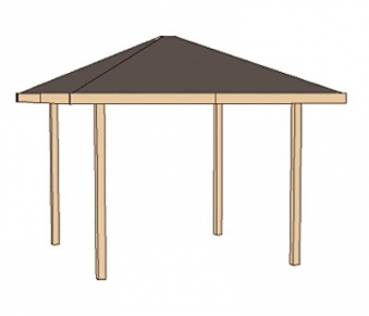Weka Holzpavillon Gartenoase 651 Gr.3 kdi 380x380 mit Dachschindeln Bild 3