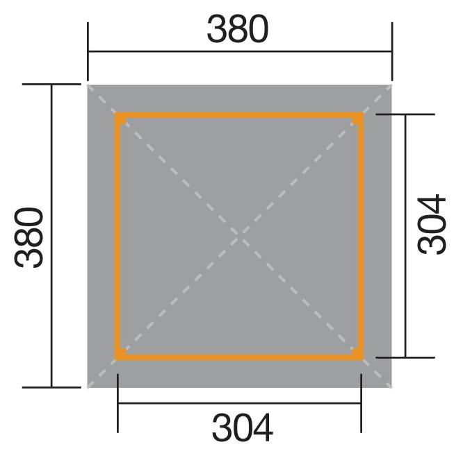 Weka Holzpavillon Gartenoase 651 Gr.3 mit Dachaufsatz kdi 380x380cm Bild 3