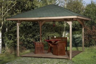 Weka Holzpavillon Gartenoase 651A Gr.1 kdi 433x433cm Bild 1