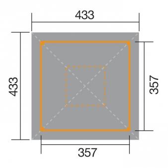 Weka Holzpavillon Gartenoase 651A Gr.1 kdi 433x433cm Bild 2