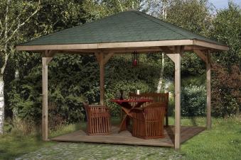 Weka Holzpavillon Gartenoase 651A Gr.2 kdi 480x480cm Bild 1