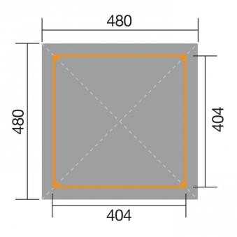 Weka Holzpavillon Gartenoase 651A Gr.2 kdi 480x480cm Bild 2