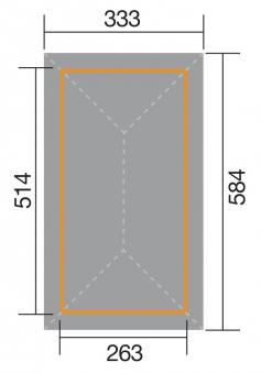 Weka Pavillon / Carport Gartenoase 651D Gr.1 kdi 584x333cm Bild 2