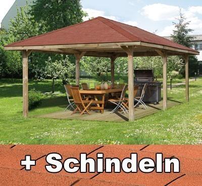 Weka Pavillon / Carport Gartenoase 651D Gr.2 678x380cm mit Schindeln Bild 1