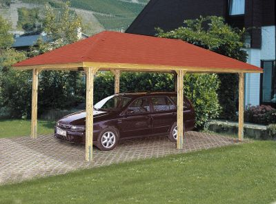 weka pavillon carport gartenoase 651d gr 2 kdi 678x380cm bei. Black Bedroom Furniture Sets. Home Design Ideas