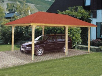 weka pavillon carport gartenoase 651d gr 2 kdi 678x380cm. Black Bedroom Furniture Sets. Home Design Ideas