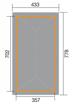 Weka Pavillon / Carport Gartenoase 651D Gr.3 kdi 778x433cm Bild 2