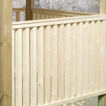 Brüstungsgeländer-Set für Weka Pavillon / Gartenlaube 651 Bild 1