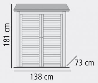 Anbauschrank ECO 1,5 Karibu Doppelflügeltür natur 138x73cm Bild 2