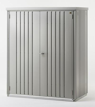 ger teschrank biohort 155x83x182 5cm silber metallic bei. Black Bedroom Furniture Sets. Home Design Ideas