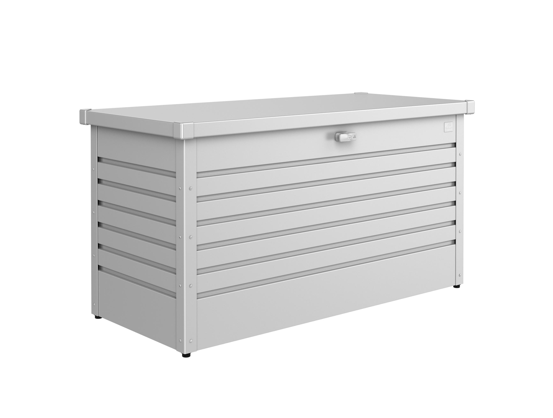gartenbox auflagenbox biohort freizeitbox 130 silber metallic bei. Black Bedroom Furniture Sets. Home Design Ideas