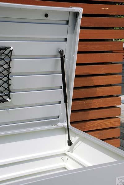 gartenbox auflagenbox biohort freizeitbox 180 dunkelgrau. Black Bedroom Furniture Sets. Home Design Ideas