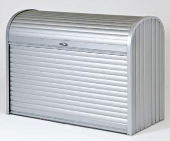 gartenbox auflagenbox biohort storemax 190 silber metallic bei. Black Bedroom Furniture Sets. Home Design Ideas