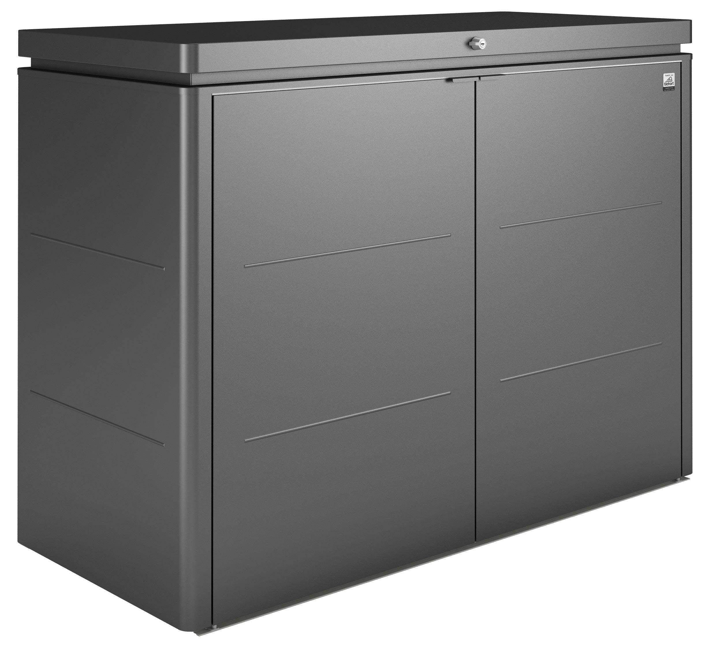 Gartenschrank biohort highboard 160 dunkelgrau metallic 160x70x118cm bei - Kleiner gartenschrank ...