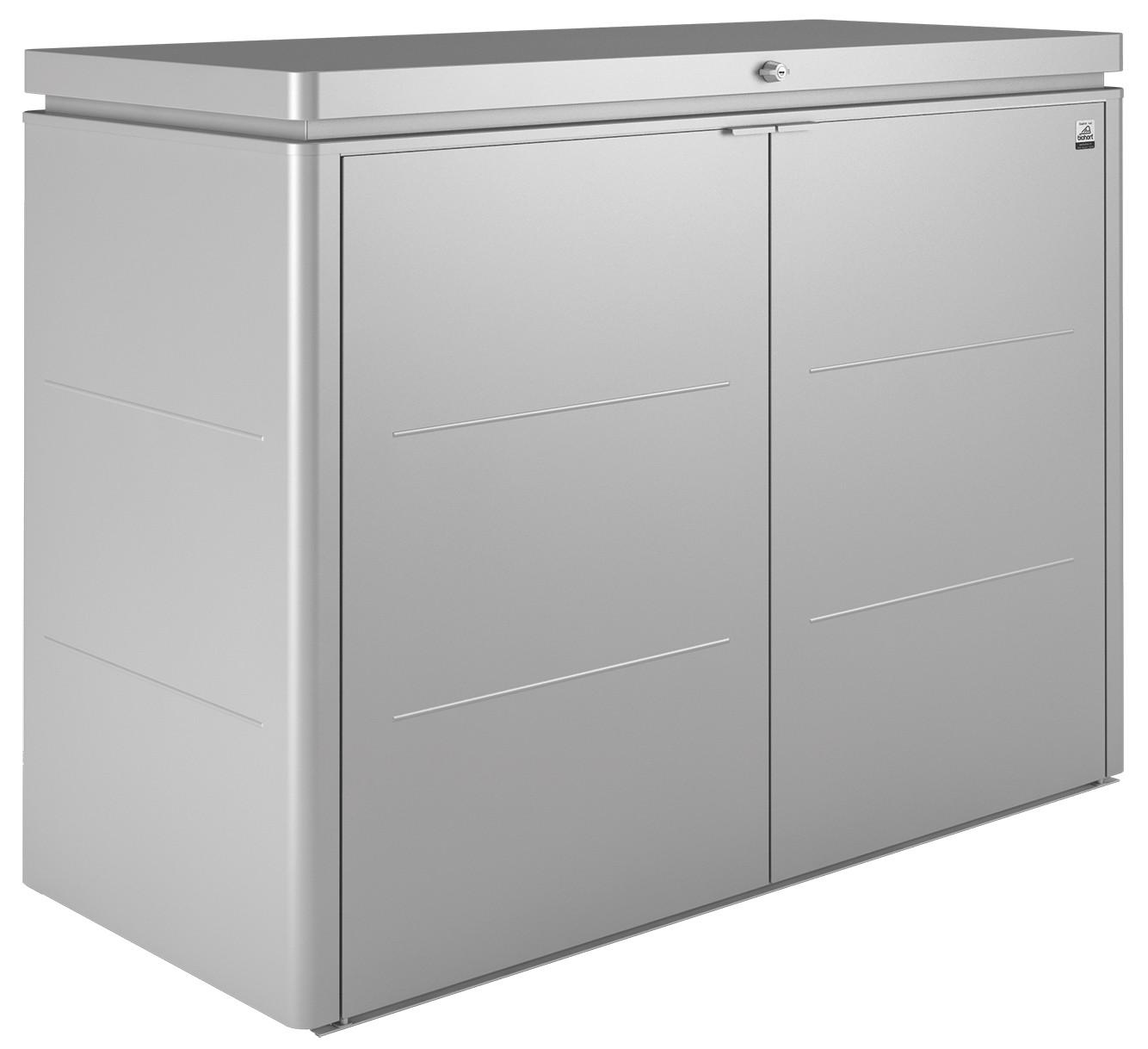 gartenschrank biohort highboard 160 silber metallic. Black Bedroom Furniture Sets. Home Design Ideas