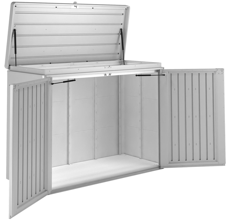 gartenschrank biohort highboard 160 wei 160x70x118cm bei. Black Bedroom Furniture Sets. Home Design Ideas