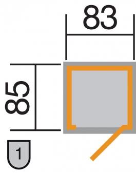 Gartenschrank / Geräteschrank 14mm Weka 361 ET Flachdach 102x107cm Bild 2