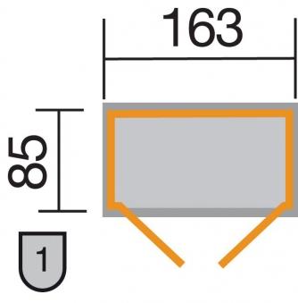 Gartenschrank / Geräteschrank 14mm Weka 361A natur DT 173x105cm Bild 2