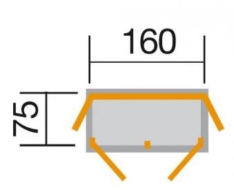 Gartenschrank / Geräteschrank 18mm WEKA Teras anthrazit 160x75cm Bild 3