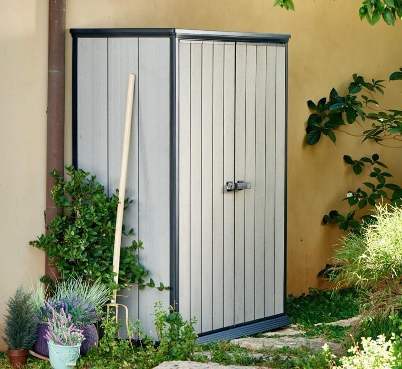Gartenschrank Keter High Store Grau 139x77x181cm Bei