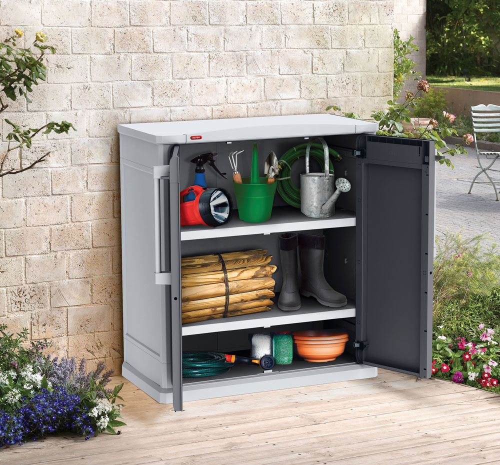 gartenschrank keter optima base cabinet 80 5x47 3x96 9cm. Black Bedroom Furniture Sets. Home Design Ideas