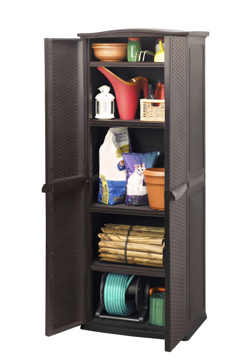 gartenschrank keter utility shed 70x50x179cm braun bei. Black Bedroom Furniture Sets. Home Design Ideas
