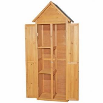 gartenschrank werkzeugschrank 49 x 62 x 183 cm kiefer bei. Black Bedroom Furniture Sets. Home Design Ideas