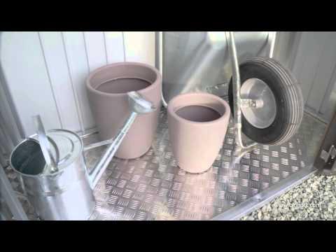 Kaminholzregal / Geräteschrank Biohort Woodstock Gr.230 silbermetallic Video Screenshot 1271