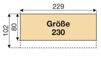 Kaminholzregal / Geräteschrank Biohort Woodstock Gr.230 silbermetallic Bild 4