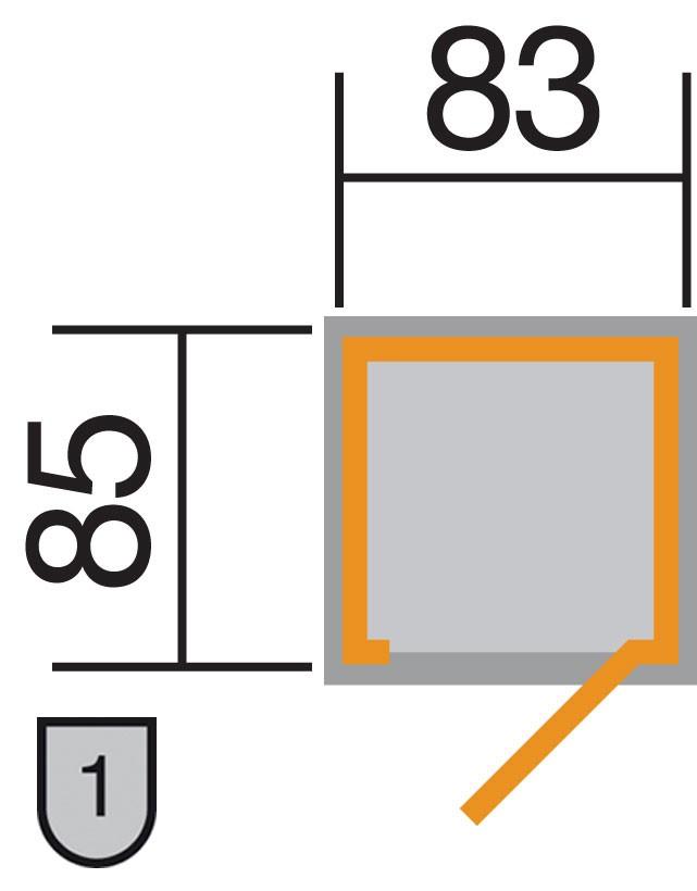 Weka Geräteschrank 14mm Gartenschrank 351 natur 90x90cm Bild 2