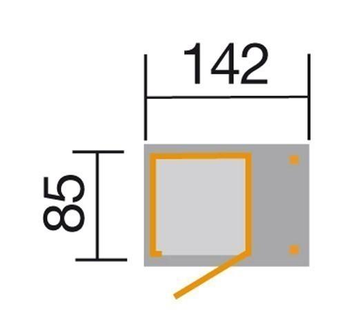 Weka Geräteschrank 14mm Gartenschrank 351A natur 162x105cm Bild 2
