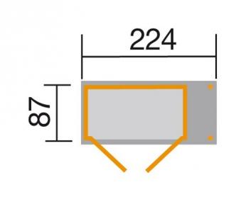 Weka Geräteschrank 14mm Gartenschrank 357A natur 245x105cm Bild 2