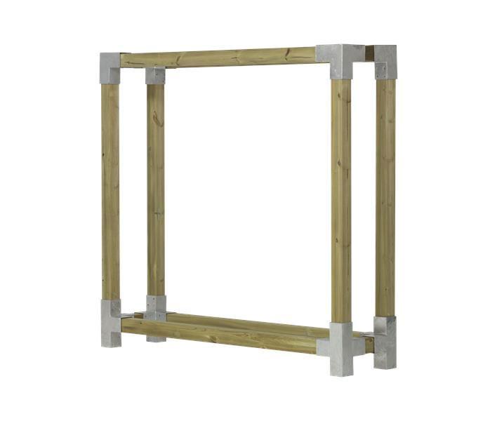 kaminholzregal brennholzregal cubic 206x50x188cm natur kdi. Black Bedroom Furniture Sets. Home Design Ideas